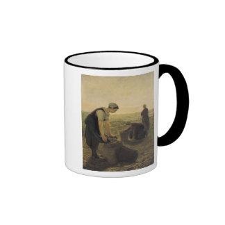 La cosecha de la patata tazas de café