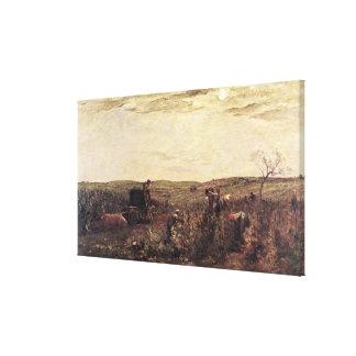 La cosecha del vino en Borgoña 1863 Impresiones En Lienzo Estiradas