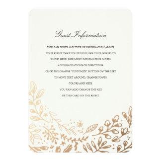 """La cosecha florece direcciones/la tarjeta de invitación 4.5"""" x 6.25"""""""
