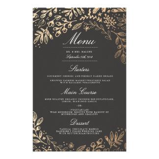 """La cosecha florece el menú de la cena de boda folleto 5.5"""" x 8.5"""""""