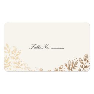 La cosecha florece la tarjeta del lugar de la tarjetas de visita
