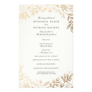 """La cosecha florece programa del boda folleto 5.5"""" x 8.5"""""""