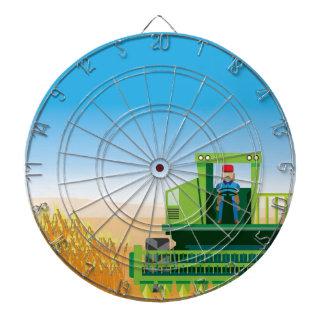 La cosechadora siega y cosecha vector de las