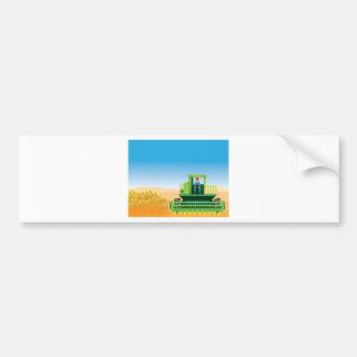 La cosechadora siega y cosecha vector de las pegatina para auto