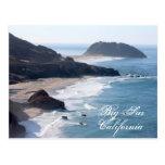 La costa costa de California en Sur grande Tarjeta Postal
