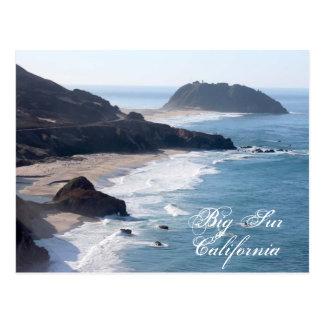 La costa costa de California en Sur grande Postal