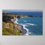 La costa costa grande de Sur en California, los E. Impresiones