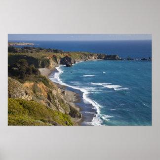 La costa costa grande de Sur en California, los E. Póster