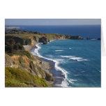 La costa costa grande de Sur en California, los E. Tarjeta De Felicitación