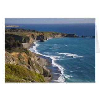 La costa costa grande de Sur en California, los E. Tarjeton