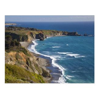 La costa costa grande de Sur en California, los Tarjeta Postal