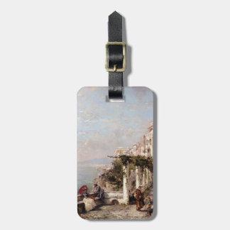La costa de Amalfi de Francisco Richard Unterberge Etiqueta Para Maleta