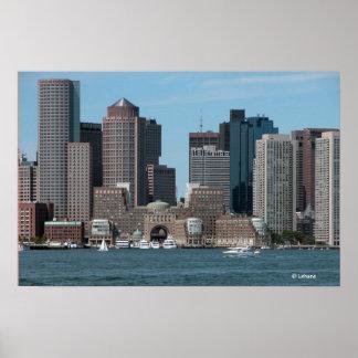La costa de Boston invita Poster