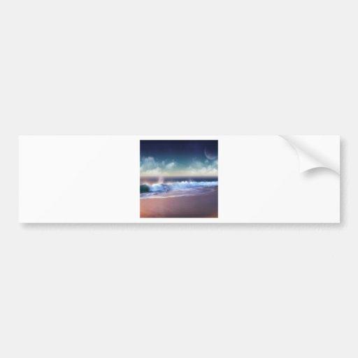 La costa de la naturaleza practica surf para arrib etiqueta de parachoque