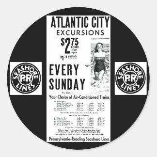 La costa de la Pennsylvania-Lectura alinea 1962 Etiquetas Redondas