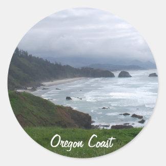 La costa de Oregon Pegatina Redonda