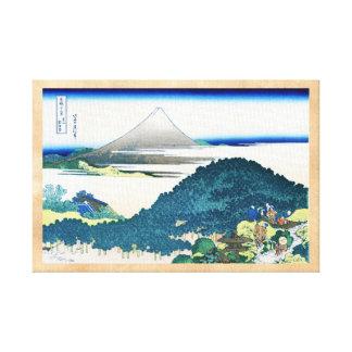 La costa de siete leages en Kamakura Hokusai Impresión En Lienzo