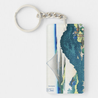 La costa de siete leages en Kamakura Hokusai Llavero Rectangular Acrílico A Doble Cara