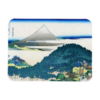 La costa de siete leages en Kamakura Hokusai Rectangle Magnet