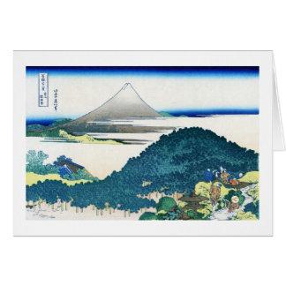La costa de siete leages en Kamakura Hokusai Tarjeta Pequeña