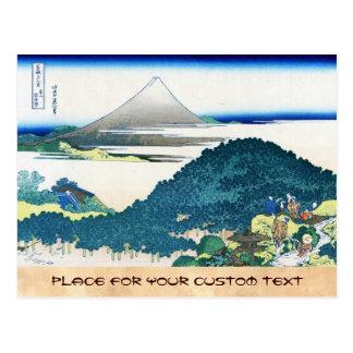 La costa de siete leages en Kamakura Hokusai Tarjeta Postal