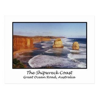 La costa del naufragio, gran camino del océano, tarjetas postales