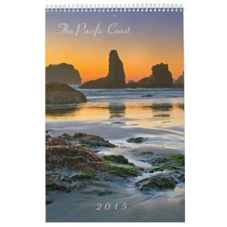 La Costa del Pacífico 2015 - sellos y Scenics Calendarios