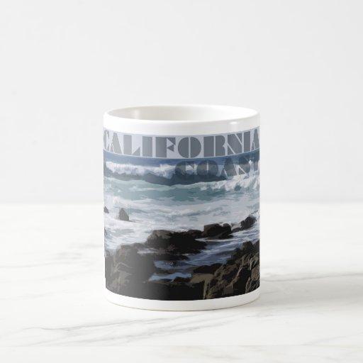 La Costa del Pacífico rocosa de California Taza De Café