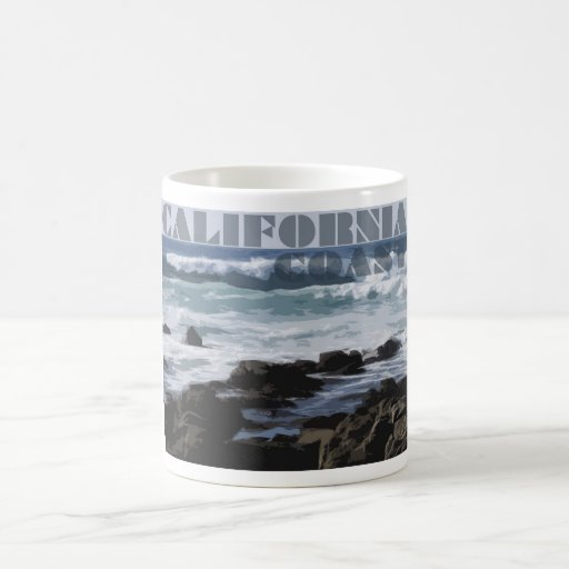 La Costa del Pacífico rocosa de California Taza Clásica