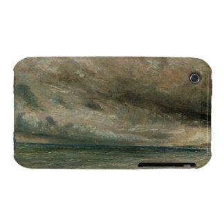 La costa en Brighton - tarde tempestuosa, c.1828 Funda Bareyly There Para iPhone 3 De Case-Mate