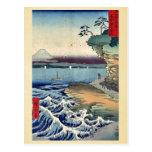 La costa en Hota en Boshu por Ando, Hiroshige Ukiy Postal