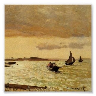 La costa en Sainte-Adresse - Claude Monet Poster