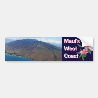 La costa oeste de Maui Pegatina Para Auto