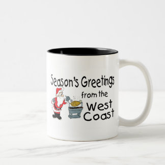La costa oeste del Bbq sazona saludos Taza De Café