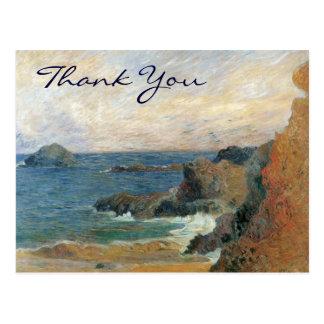 La costa rocosa de Gauguin Tarjeta Postal