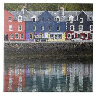 La costa, Tobermory, isla de reflexiona sobre, Esc Azulejo Cuadrado Grande