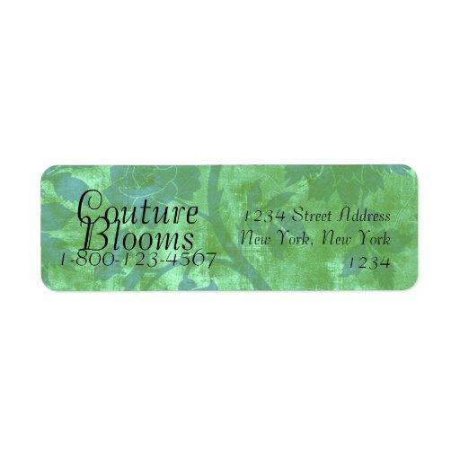 La costura florece las etiquetas del remite del fl etiqueta de remite