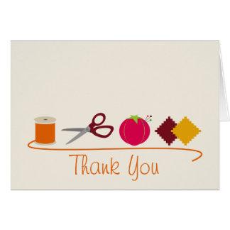 La costura le agradece cardar tarjeta de felicitación