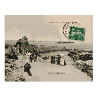 La Côte Basque BIARRITZ La Rocher replica 1909 Postcard