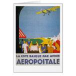 La Cote Basque Par Avion Greeting Card