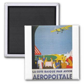 La Cote Basque Par Avion Refrigerator Magnet
