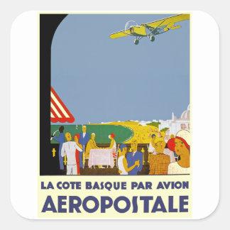 La Cote Basque Par Avion Square Sticker
