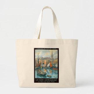 La Côte d' Émeraude Canvas Bags