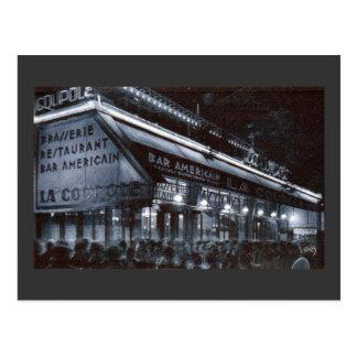 La Coupole, Paris at Night Vintage Postcard