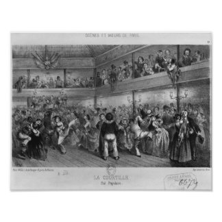 La Courtille, danza popular, grabada por Yves Posters