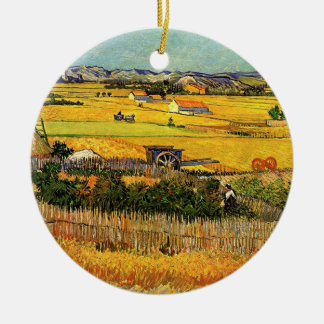 La Crau, Montmajour, bella arte de la cosecha de Adorno Navideño Redondo De Cerámica