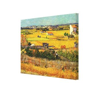 La Crau Montmajour de la cosecha de Van Gogh en f Impresiones De Lienzo
