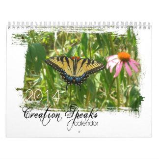 La creación 2014 habla calendario de pared