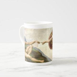 La creación de Adán por la taza de Miguel Ángel Taza De Porcelana