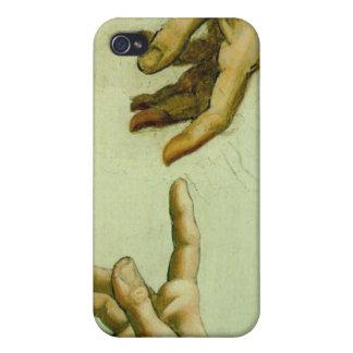 La creación de da Vinci de Adán iPhone 4 Carcasas